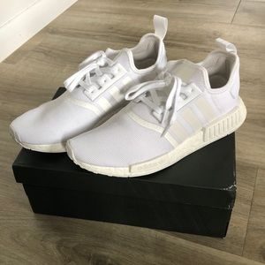 Men's adidas NMD_R1 triple white US 11 (worn once)